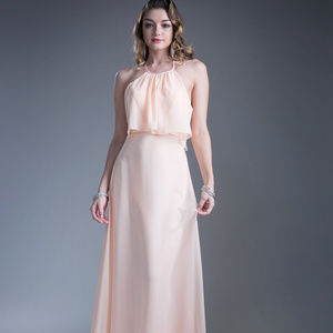Halter Neckline Long Prom Dress